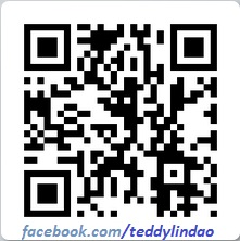 QR code da pagina do Teddy No Facebook